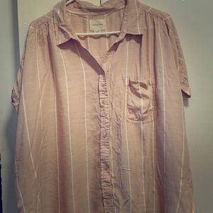 AEO Dolman Shirt Sleeve Button Up XXL